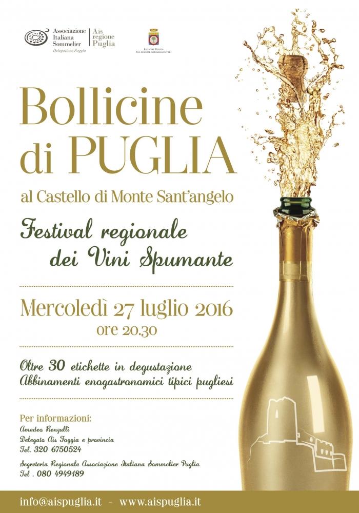 Evento Bollicine di Puglia – Castel Sant'angelo (FG) – 27 Luglio 2016